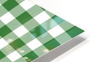Green Plaid Pattern HD Metal print