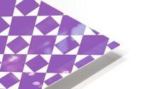 Purple Geometric Pattern HD Metal print