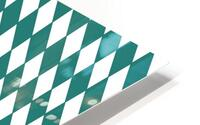 Dark Green Checkers Pattern HD Metal print