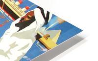 Hamburg-Sud Billige Mittelmeerreisen Original Poster HD Metal print