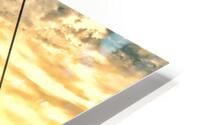 Amazing Sunset over river HD Metal print