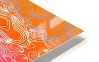 geometric fractal line abstract background in purple orange HD Metal print