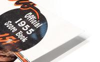 1955 Detroit Tigers Score Book Canvas HD Metal print