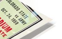 1959 Colorado State Rams vs. Army Cadets HD Metal print