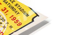 1959 Army vs. Air Force Football Ticket Art HD Metal print