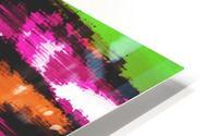 orange black pink green grunge painting texture abstract background HD Metal print