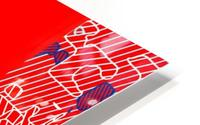 graffiti drawing and painting abstract in red and blue HD Metal print