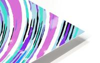 psychedelic graffiti circle pattern abstract in pink blue purple HD Metal print