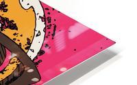 funny skull and bone graffiti drawing in orange brown and pink HD Metal print