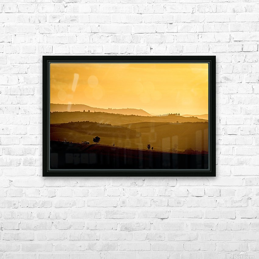 Tuscany Pienza Dawn HD Sublimation Metal print with Decorating Float Frame (BOX)