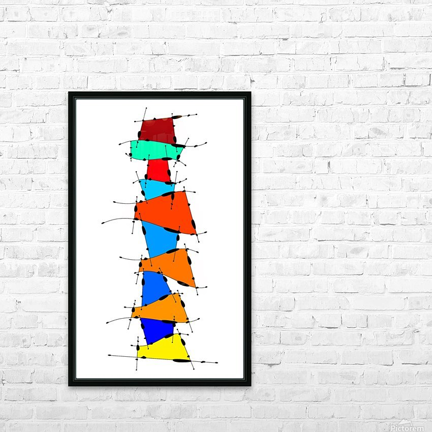 Sanomessia - melting cubes HD Sublimation Metal print with Decorating Float Frame (BOX)
