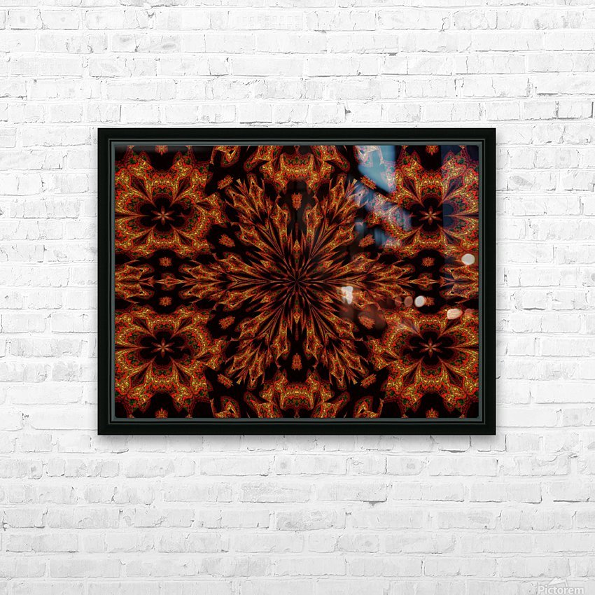 Golden Night Flower HD Sublimation Metal print with Decorating Float Frame (BOX)