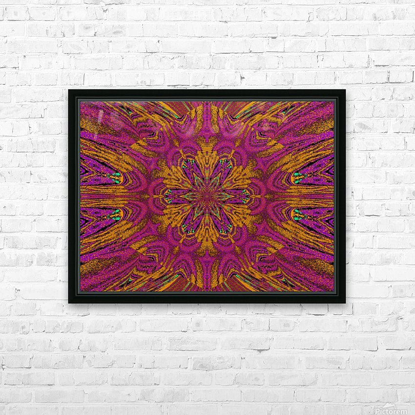 Pink Orange Jasmine HD Sublimation Metal print with Decorating Float Frame (BOX)