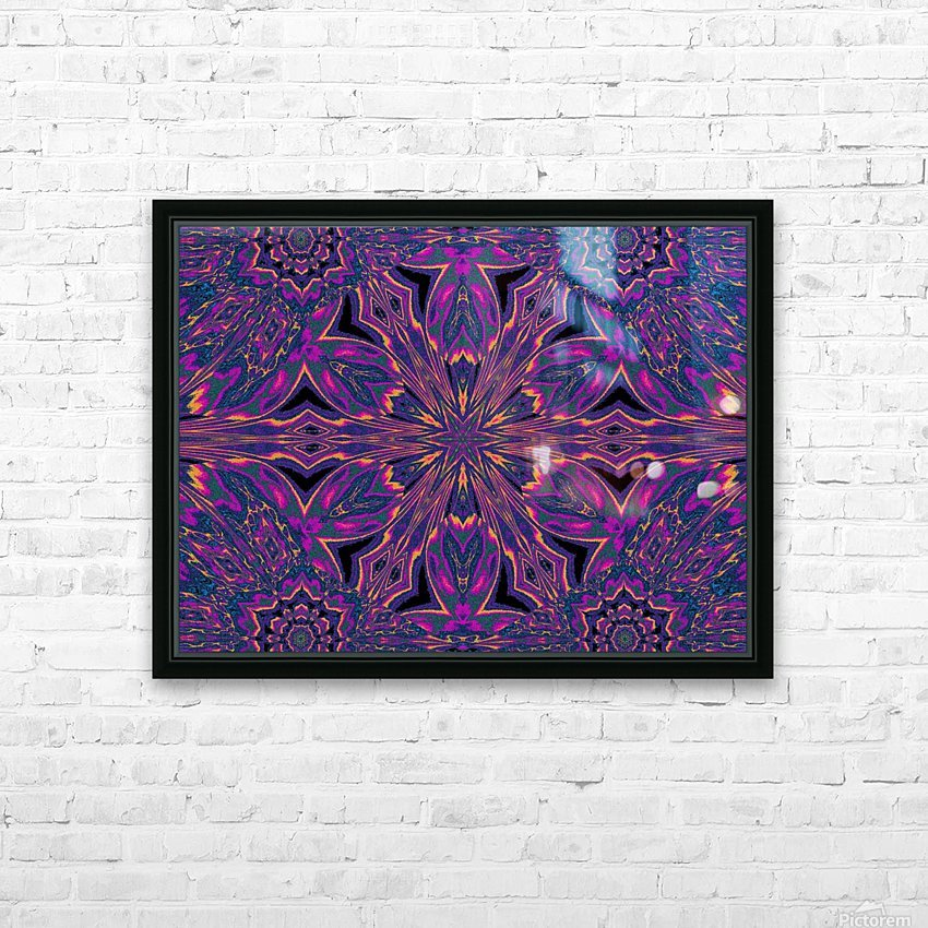 Psychedelic Jasmine 3 HD Sublimation Metal print with Decorating Float Frame (BOX)