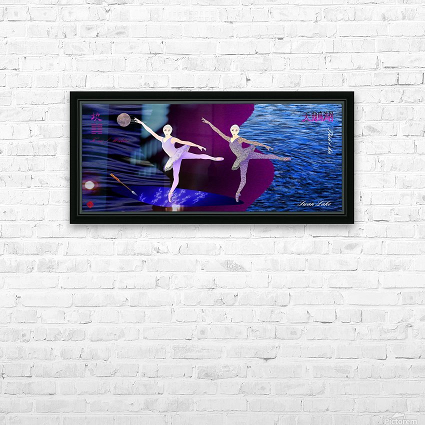 Dance of the Swans HD Sublimation Metal print with Decorating Float Frame (BOX)
