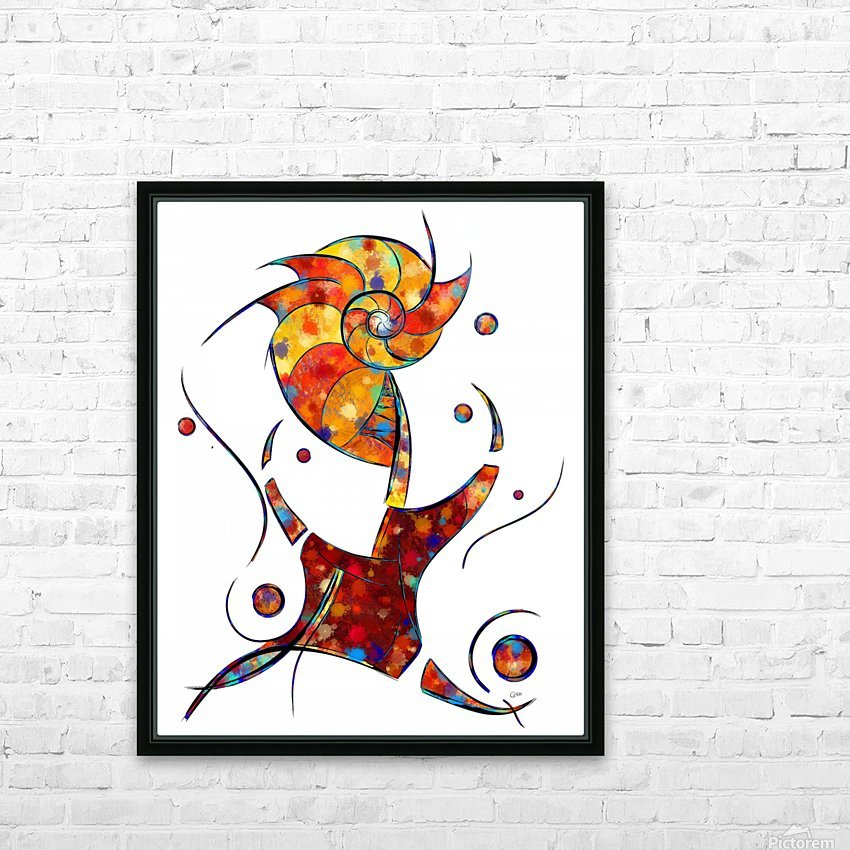 Espanessua - imaginery spiral flower HD Sublimation Metal print with Decorating Float Frame (BOX)