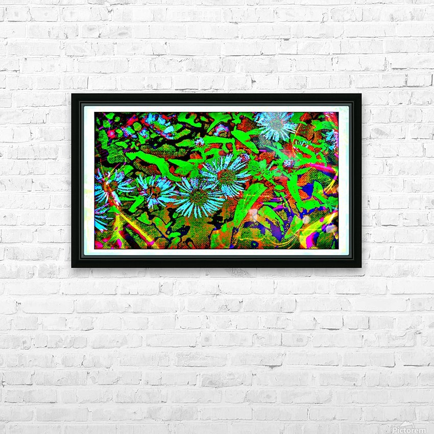 Green Flat-pic art HD Sublimation Metal print with Decorating Float Frame (BOX)