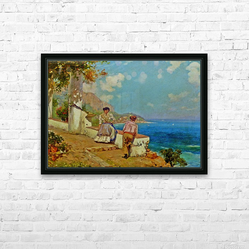 Courting couple in Naples HD Sublimation Metal print with Decorating Float Frame (BOX)