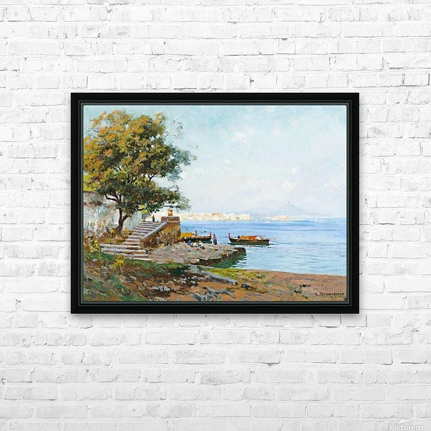 La baie de Naples HD Sublimation Metal print with Decorating Float Frame (BOX)