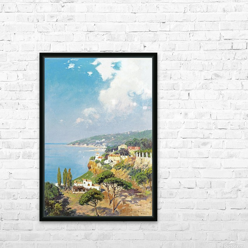 Sunny day on Naples Bay HD Sublimation Metal print with Decorating Float Frame (BOX)
