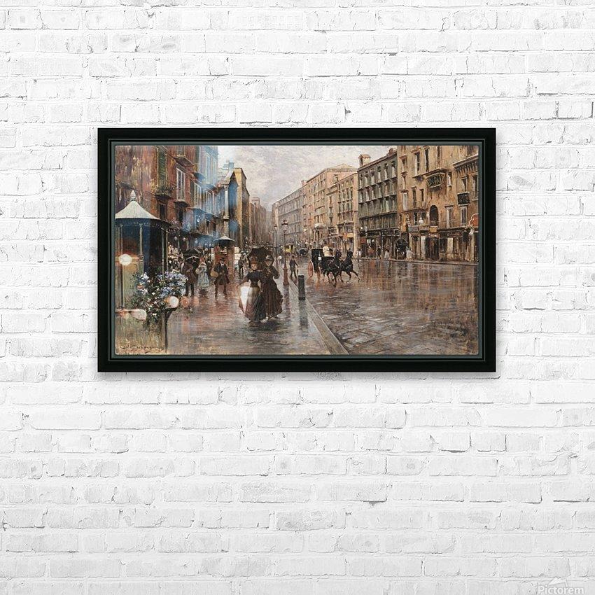 Napoli, Via Toledo HD Sublimation Metal print with Decorating Float Frame (BOX)