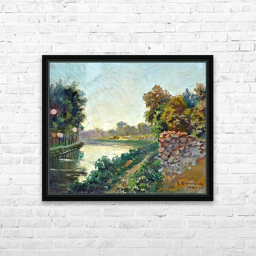 Canale a Saint Martin a Chalons HD Sublimation Metal print with Decorating Float Frame (BOX)