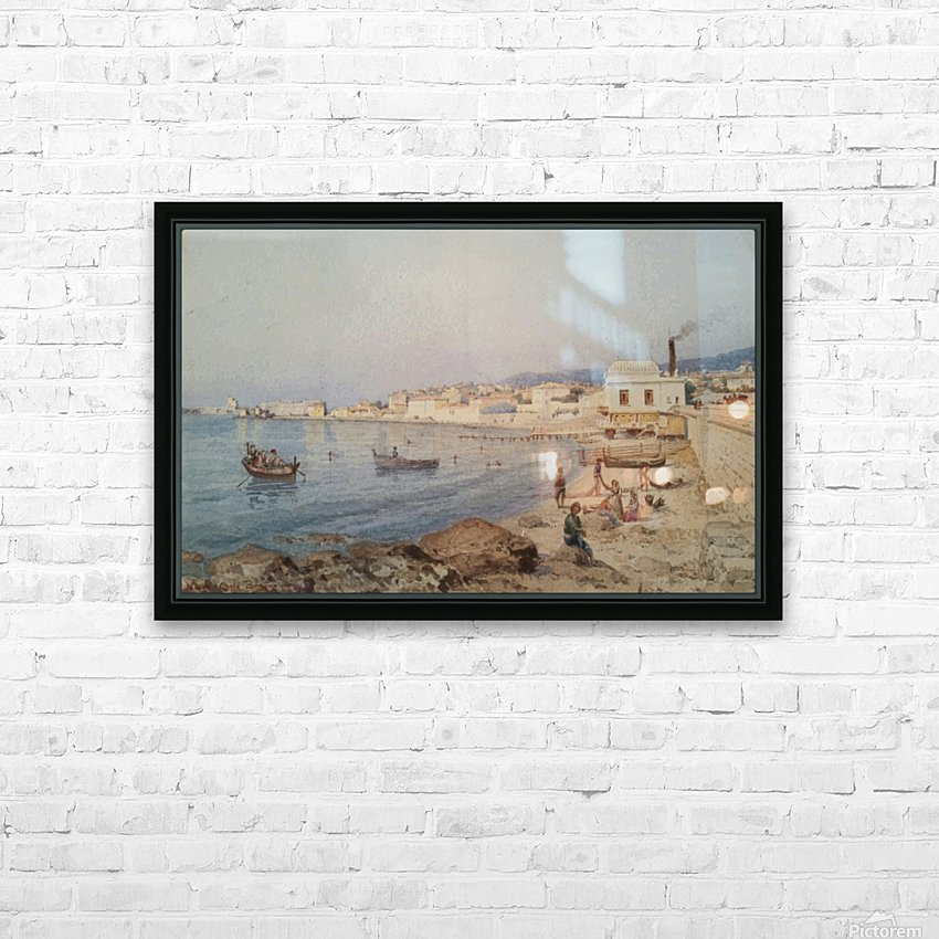 Marina di Napoli HD Sublimation Metal print with Decorating Float Frame (BOX)