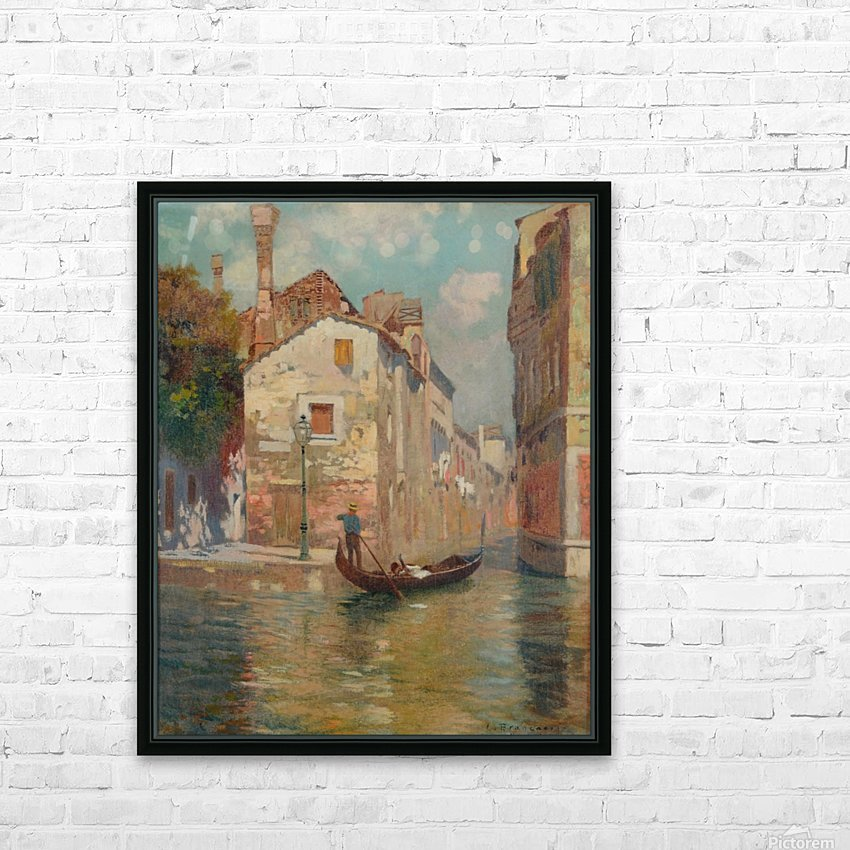Gondola traveling along a canal in Venice HD Sublimation Metal print with Decorating Float Frame (BOX)