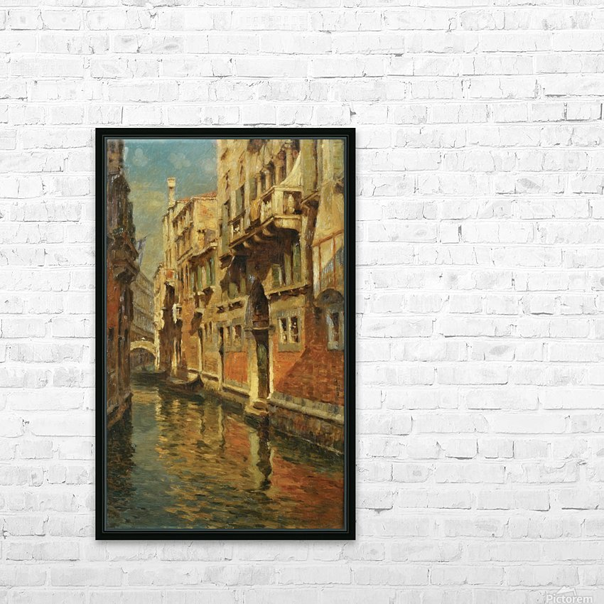 Shining morning in Venice HD Sublimation Metal print with Decorating Float Frame (BOX)