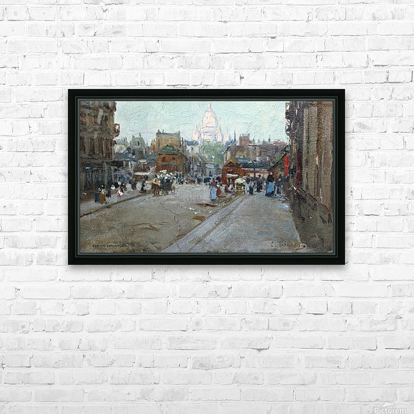 Montmartre HD Sublimation Metal print with Decorating Float Frame (BOX)
