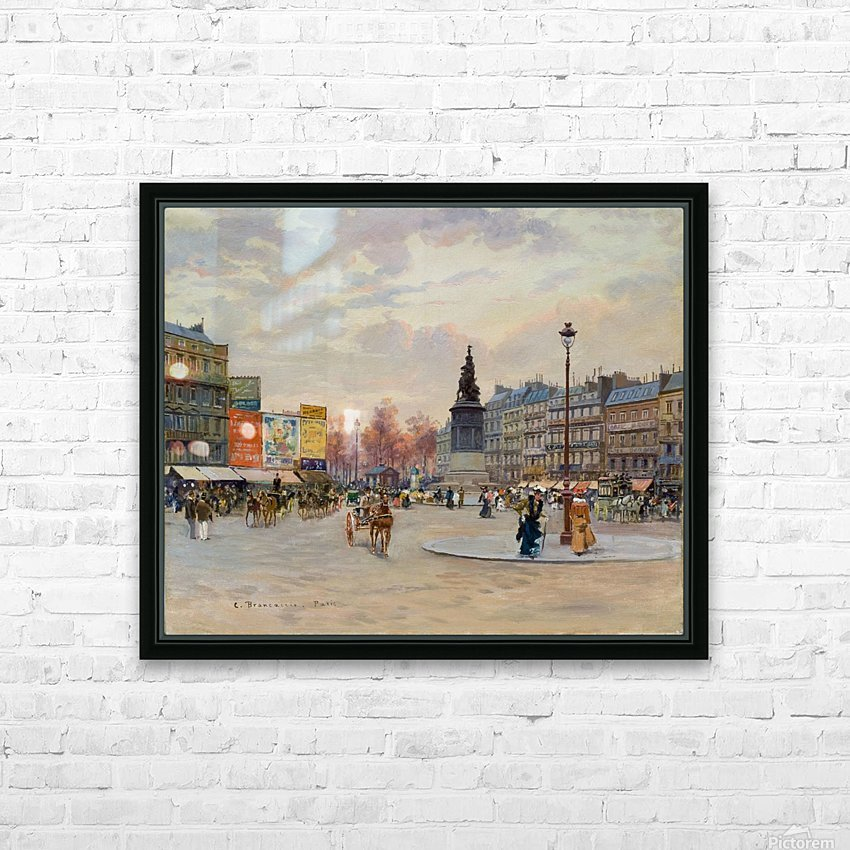 Place of Clichy HD Sublimation Metal print with Decorating Float Frame (BOX)
