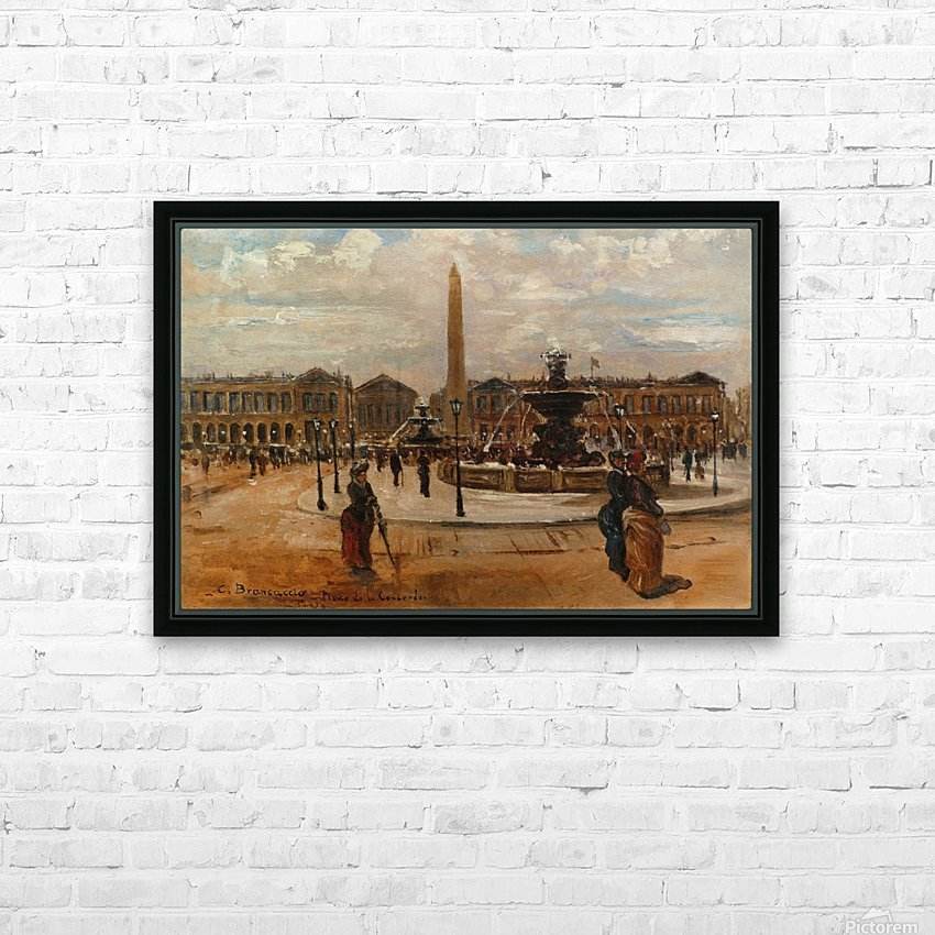 Place of the Concorde animated HD Sublimation Metal print with Decorating Float Frame (BOX)