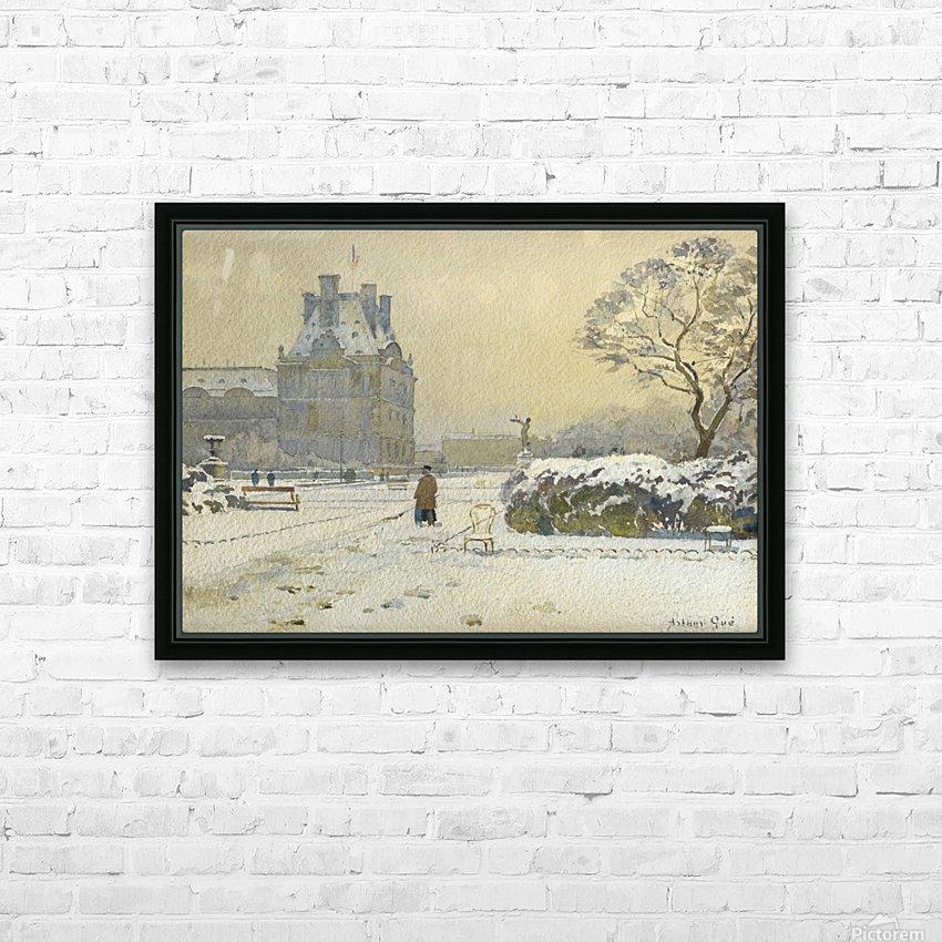 Le pavillon de flore sous la neige, Paris HD Sublimation Metal print with Decorating Float Frame (BOX)