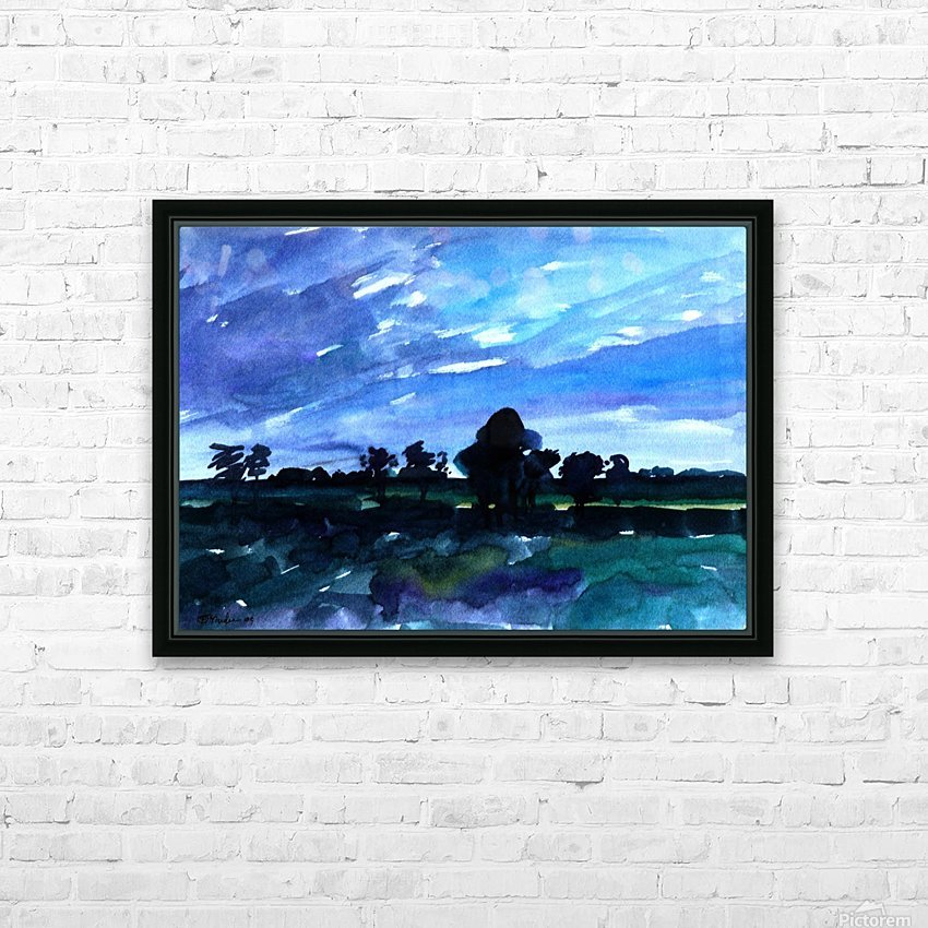 morning landscape 2 HD Sublimation Metal print with Decorating Float Frame (BOX)