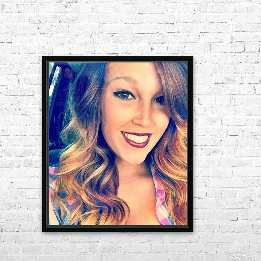 EM- Female pic art model HD Sublimation Metal print with Decorating Float Frame (BOX)
