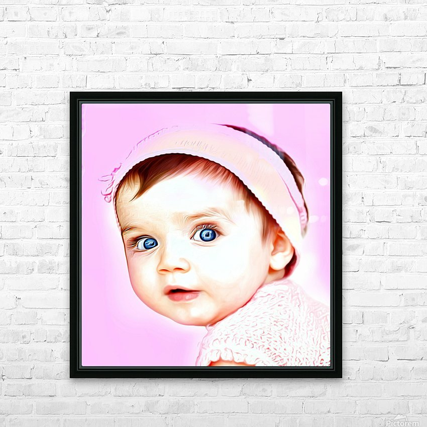 Cute Baby Pic Art HD Sublimation Metal print with Decorating Float Frame (BOX)