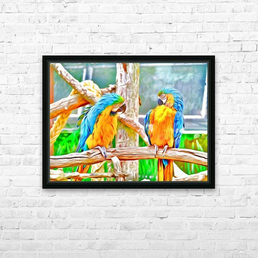 BirdsTalking HD Sublimation Metal print with Decorating Float Frame (BOX)