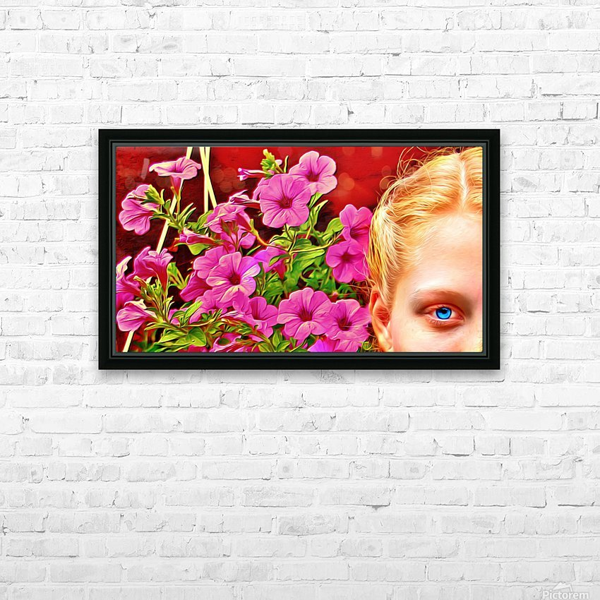 womanflowersEYE HD Sublimation Metal print with Decorating Float Frame (BOX)