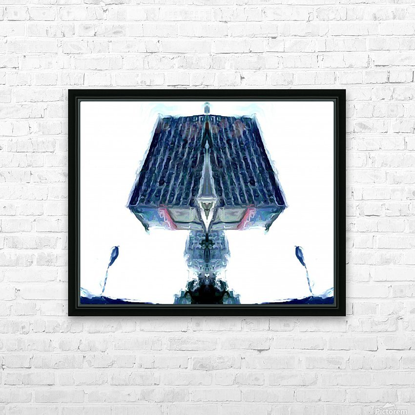 tower HD Sublimation Metal print with Decorating Float Frame (BOX)