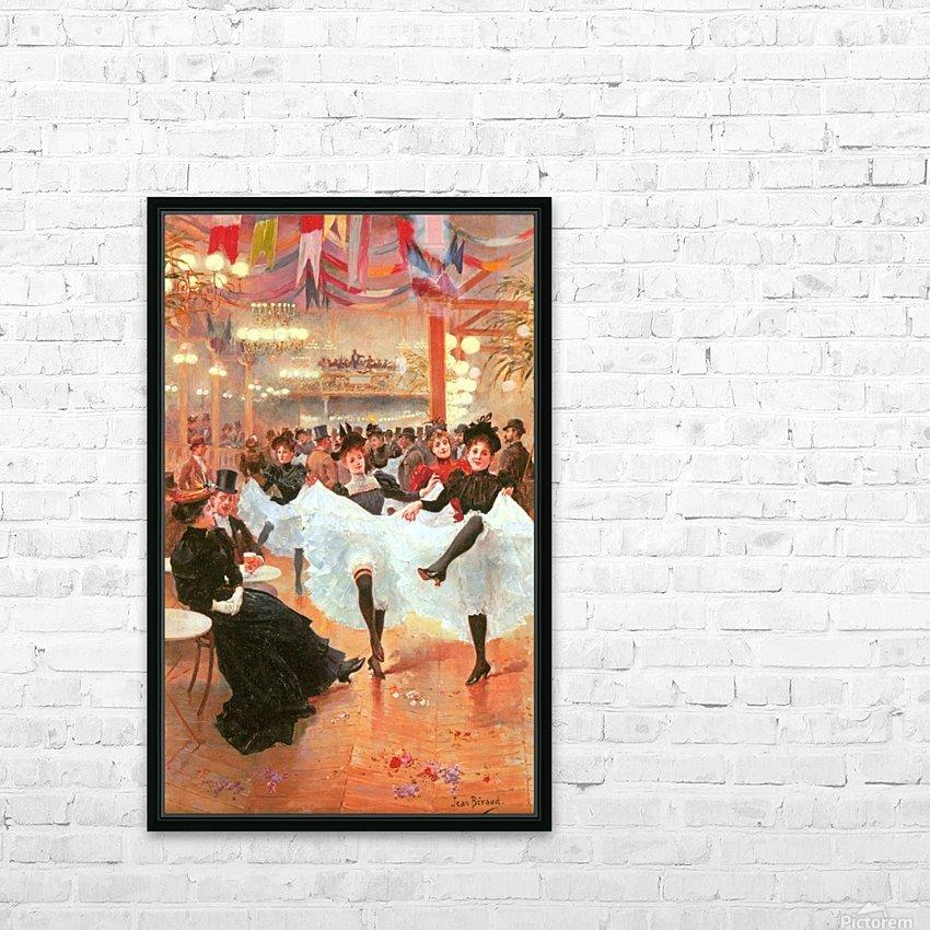 Cafe de Paris HD Sublimation Metal print with Decorating Float Frame (BOX)