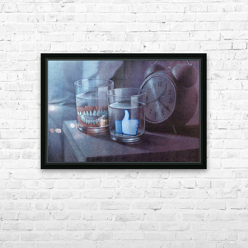 time to rest HD Sublimation Metal print with Decorating Float Frame (BOX)