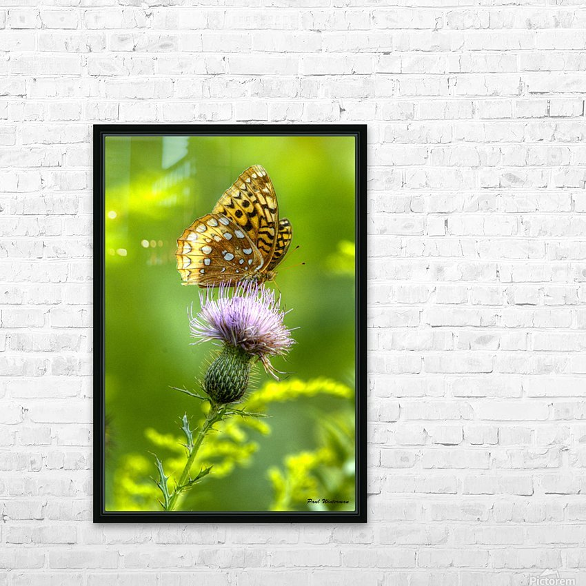 Thistle Nectar HD Sublimation Metal print with Decorating Float Frame (BOX)