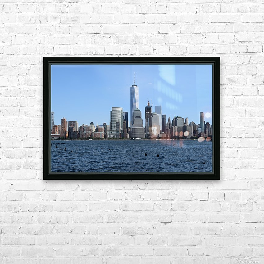 MANHATTAN, NEW YORK HD Sublimation Metal print with Decorating Float Frame (BOX)