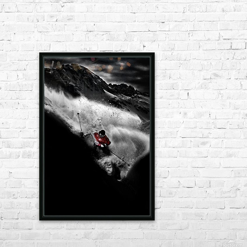 Dark Freeride HD Sublimation Metal print with Decorating Float Frame (BOX)