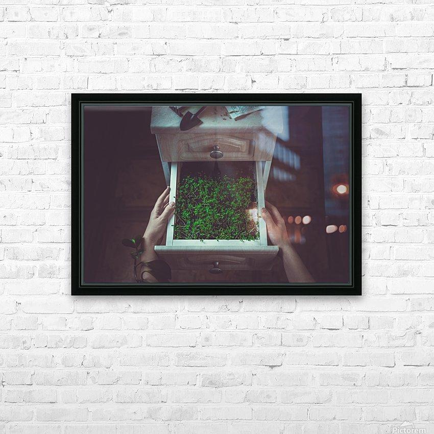 Avoir la main verte HD Sublimation Metal print with Decorating Float Frame (BOX)