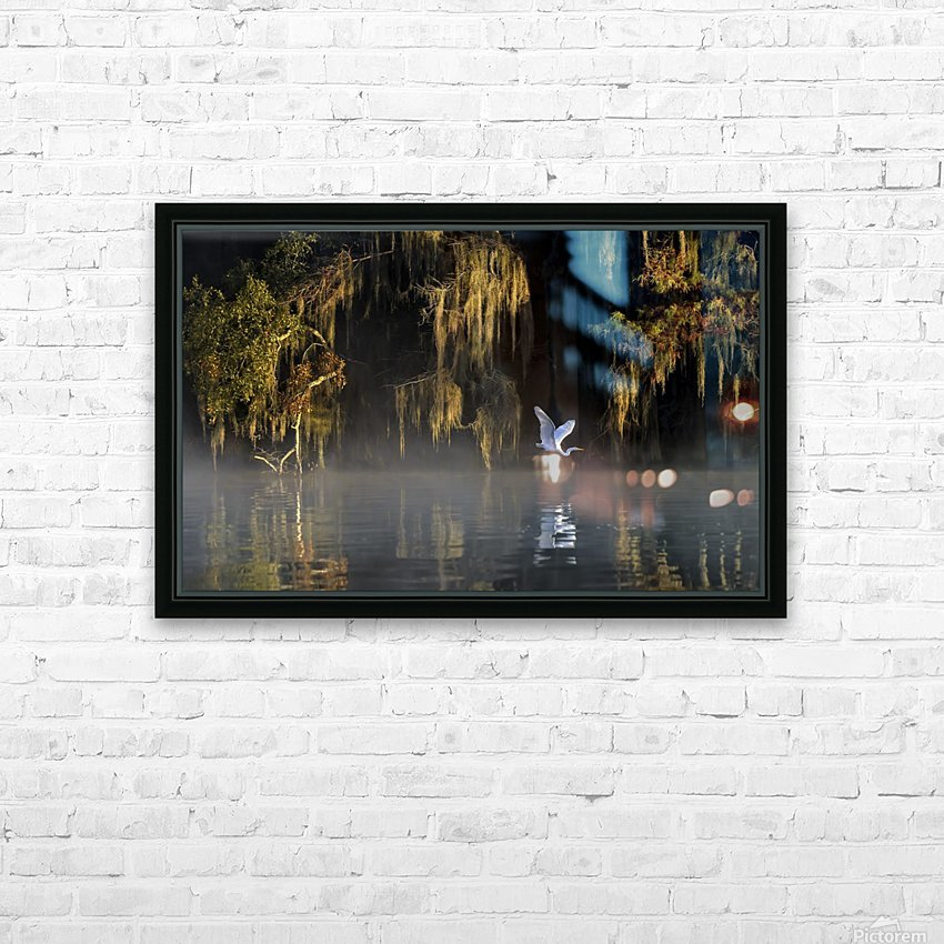 Egret HD Sublimation Metal print with Decorating Float Frame (BOX)