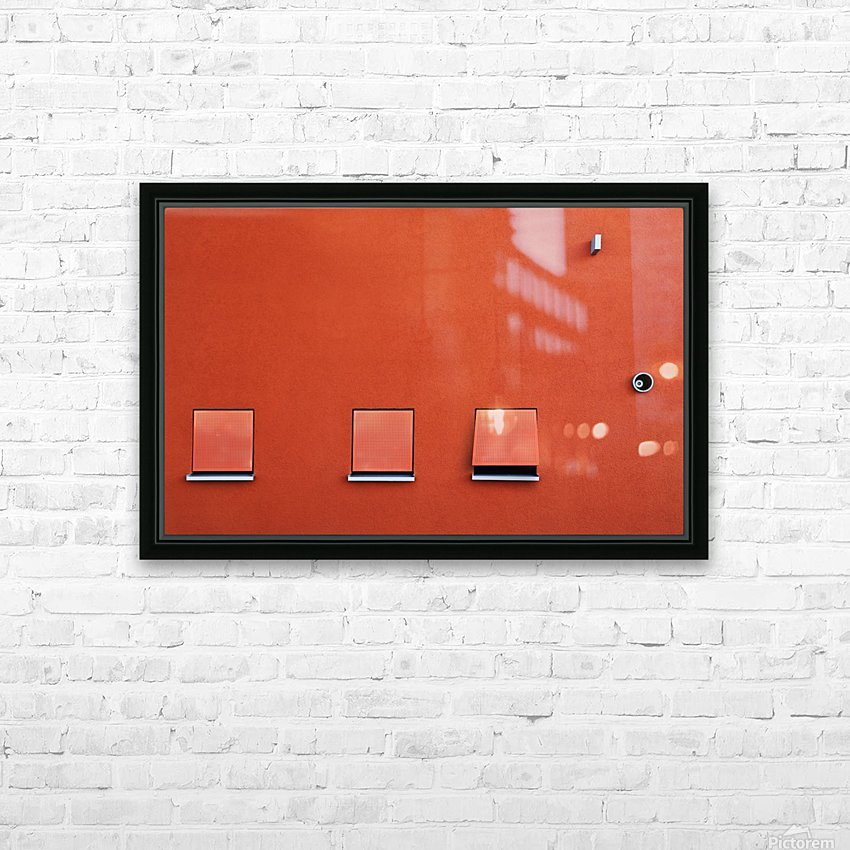 Red HD Sublimation Metal print with Decorating Float Frame (BOX)