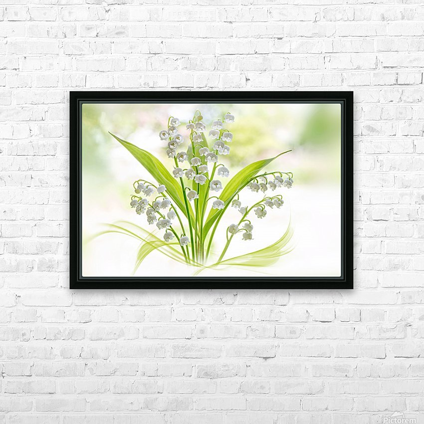 Lily of the valley HD Sublimation Metal print with Decorating Float Frame (BOX)