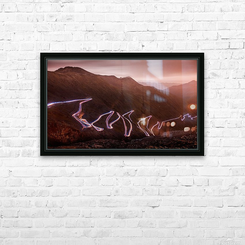 Winding light HD Sublimation Metal print with Decorating Float Frame (BOX)