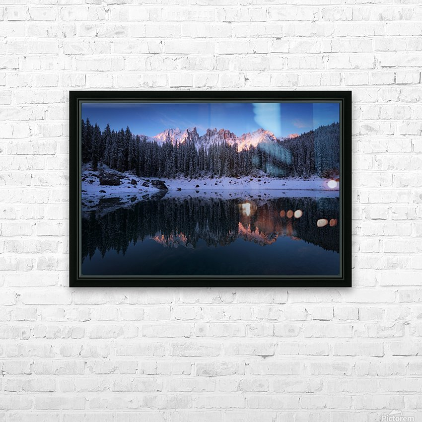 The first morning HD Sublimation Metal print with Decorating Float Frame (BOX)